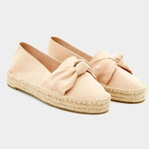 Pull & Bear Pale Oink Knot Espadrilles